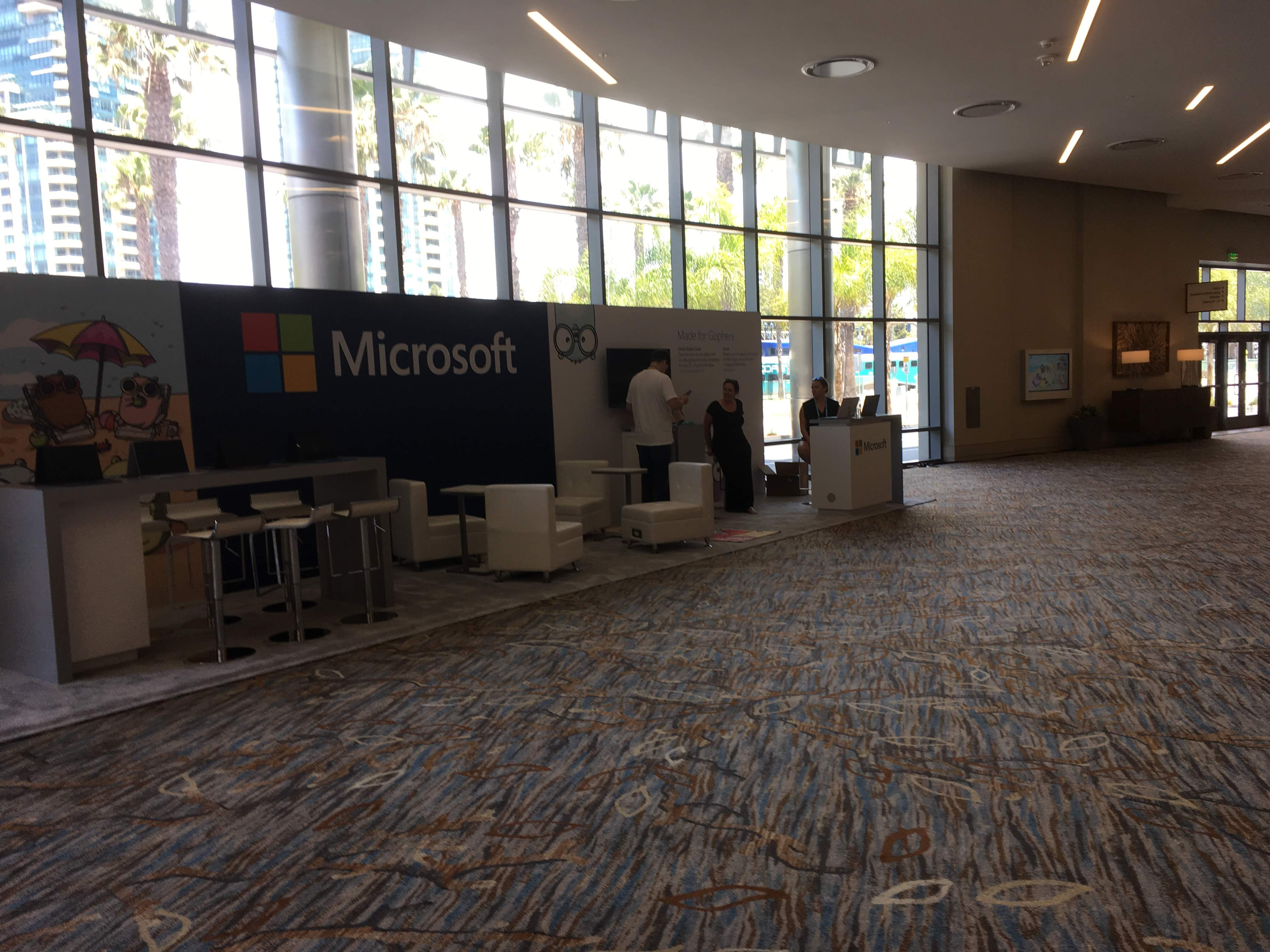 Microsoft Booth at GopherCon 2019